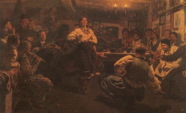 Image - Ilia Repin: An Evening Party (Vechornytsi) (1881).