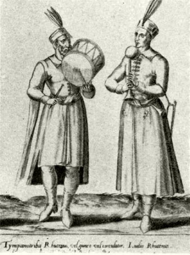 Image - Ruthenians (Rutheni) (an illustration in a book by Pietro Bertelli, 1563).
