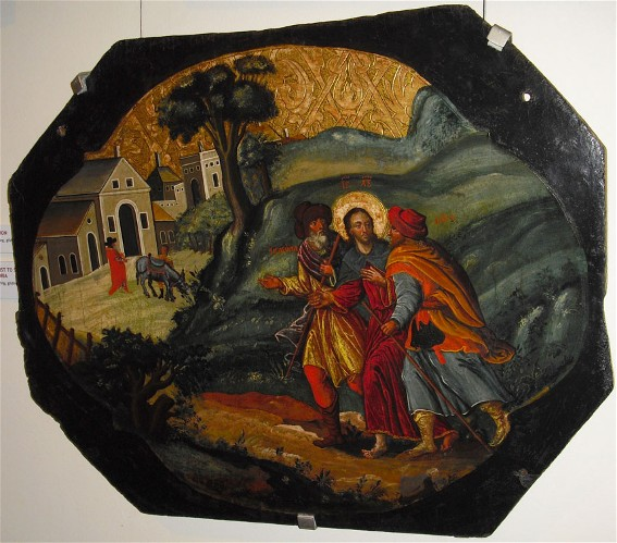 Image - Ivan Rutkovych: icon Road to Emmaus from the Zhovkva iconostasis (ca. 1697-99).