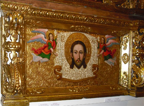 Image - Ivan Rutkovych: icon Savior nerukotvornyi (Saviour Not-Made-By-Hands) from the Zhovkva iconostasis (ca. 1697-99).