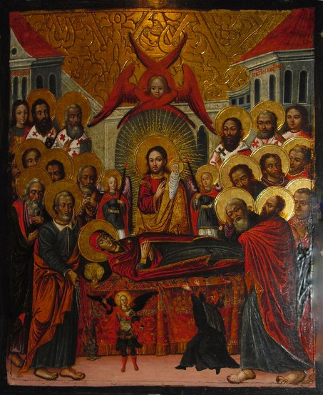 Image - Ivan Rutkovych: icon Dormition of Virgin_Mary from the Zhovkva iconostasis (ca. 1697-99).