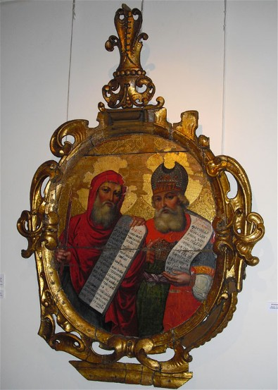 Image - Ivan Rutkovych: icon of Moses and Zacharias from the Zhovkva iconostasis (ca. 1697-99).