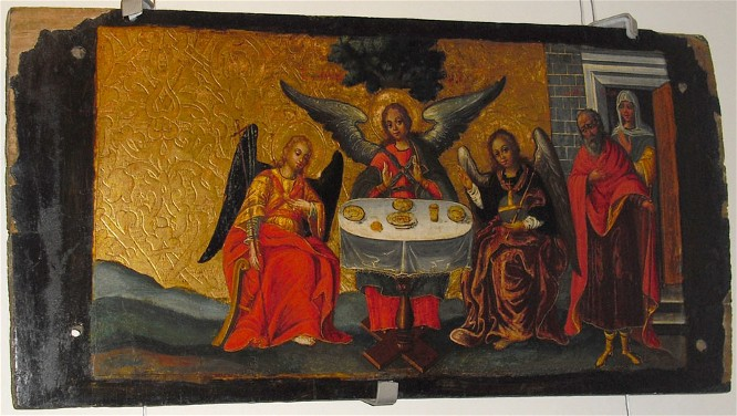 Image - Ivan Rutkovych: icon The Old Testament Trinity from the Zhovkva iconostasis (ca. 1697-99).