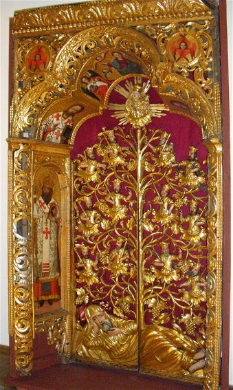 Image - Ivan Rutkovych: the Royal Gates of the Zhovkva iconostasis (ca. 1697-99).