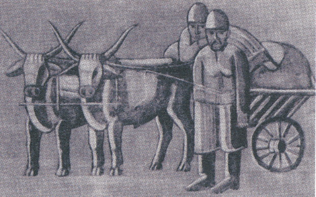 Image - Yevhen Sahaidachny: Peasants with Oxen (early 1920s).