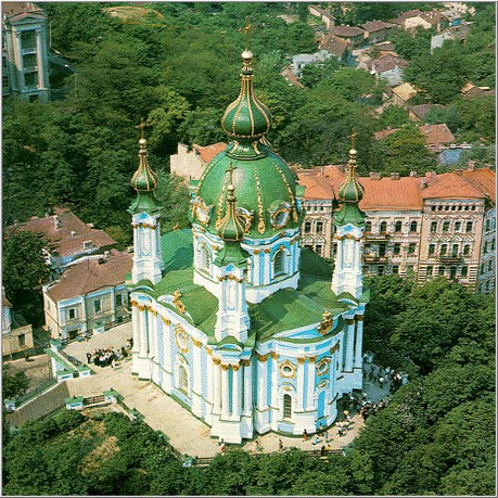 Image - Aerial view of the Saint Andrew's Church (Kyiv)