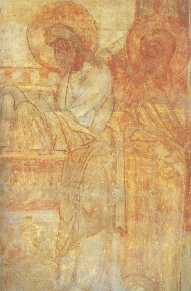 Image - Saint Cyril's Church: Presentation at the Temple fresco (fragment) (12th century).