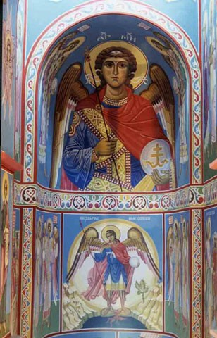 Image -- Saint Michael the Archangel: fresco in the Saint Michael's Church, Kyiv.