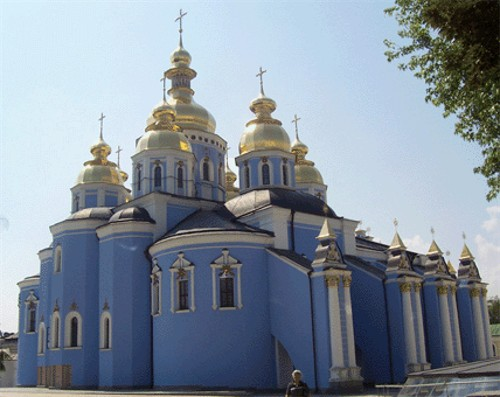Image -- Saint Michael's Church in Kyiv (present-day view).