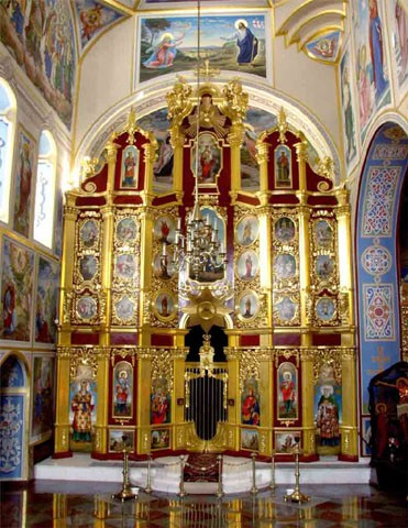 Image -- Saint Michael's Church in Kyiv: side altar and iconostasis.