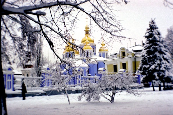 Image -- Saint Michael's Golden-Domed Monastery in Kyiv.