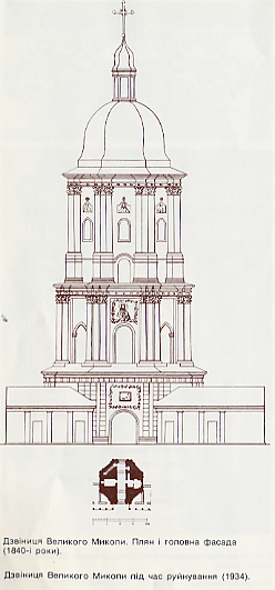 Image - Saint Nicholas's Military Cathedral in Kyiv bell tower (floor plan and drawing).