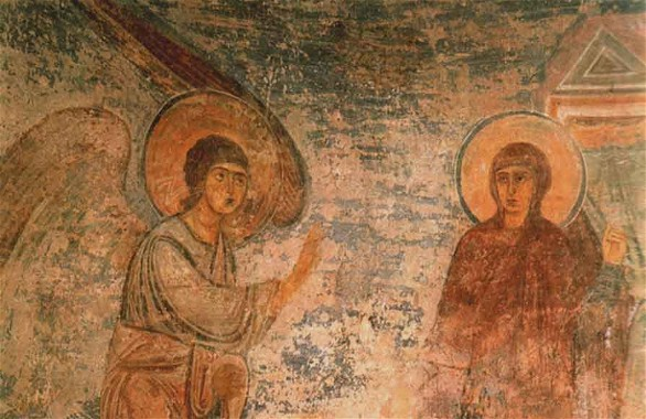 Image - Saint Sophia Cathedral frescos: Annunciation.