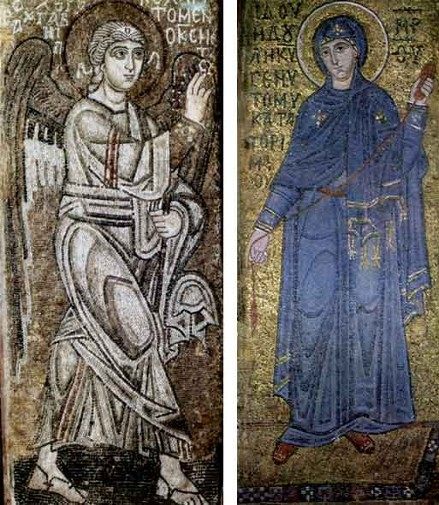 Image - Mosaics of Saint Sophia Cathedral: Announciation.