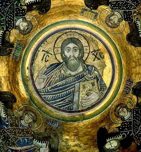 Image - Mosaics at the Saint Sophia Cathedral in Kyiv: Christ Pantocrator.