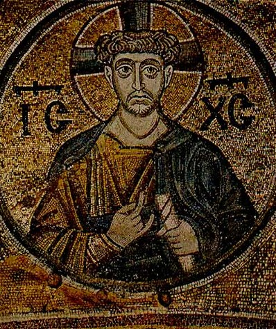 Image - Mosaics of Saint Sophia Cathedral: Christ the Priest.