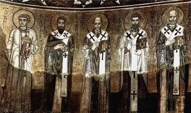 Image - Mosaics of Saint Sophia Cathedral: Church Fathers.