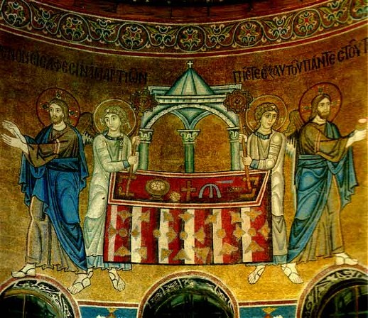 Image - Mosaics of Saint Sophia Cathedral: Eucharist.