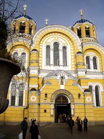 Image - The main facade of Saint Volodymyr's Cathedral in Kyiv.