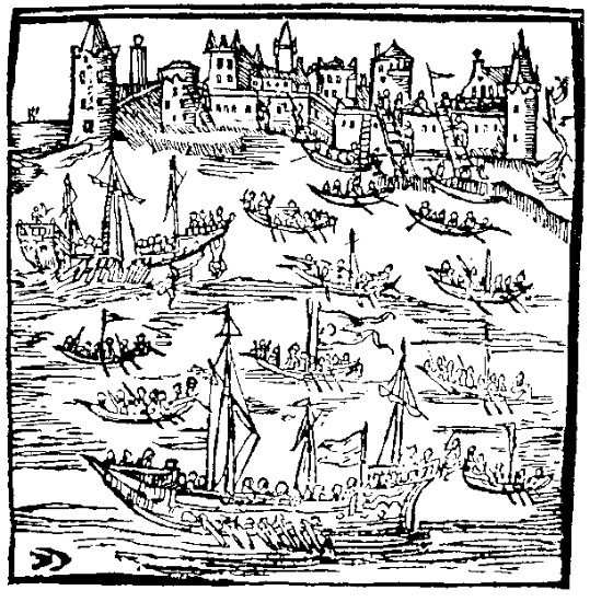 Image - The Siege of Kaffa -- an anonymous engraving in the 1622 edition of Kasiian Sakovych's Virshi.