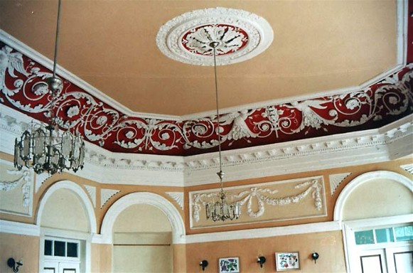 Image - The Interior of the palace in the village of Samchyky in Podilia.