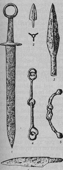 Image - Sarmatian iron weapons and bridle piece.