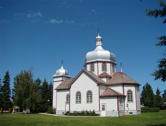 Image - The Holy Spirit Ukrainian Orthodox Church in Hafford, Saskatchewan.