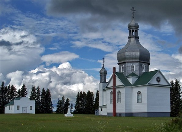 Image - SS Peter and Paul Ukrainian Church in Isinger, Saskatchewan.
