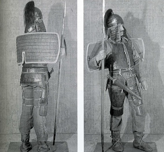 Image - A contemporary reconstruction of an armour of a Scythian warrior.