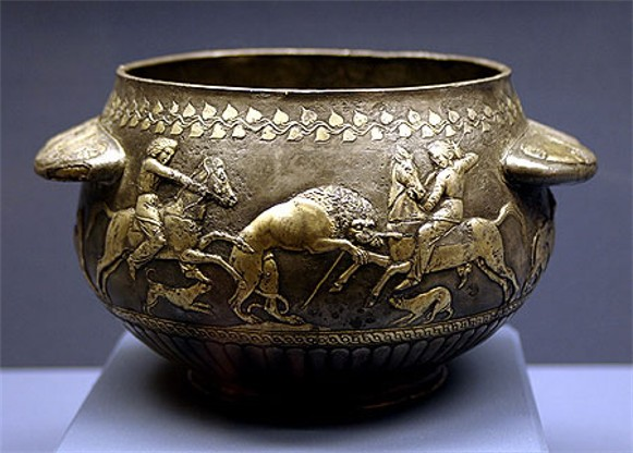 Image - A Scythian gilded bowl from the Solokha kurhan (4th century BC).