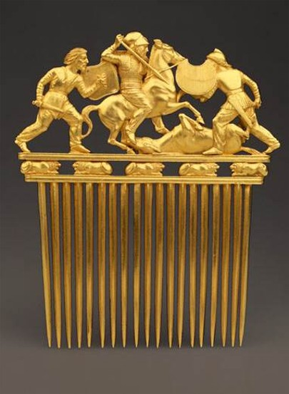 Image - A Scythian gold comb from the Solokha kurhan (4th century BC).