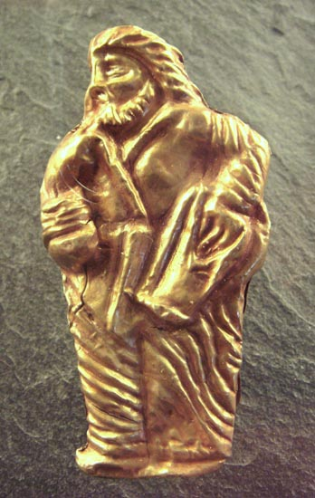 Image -- A gold statuette of a Scythian man from the Kul Oba kurhan.