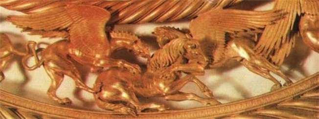Image - A detail of a Scythian gold pectoral from the Tovsta Mohyla kurhan, 4th century BC (Museum of Historical Treasures of Ukraine).