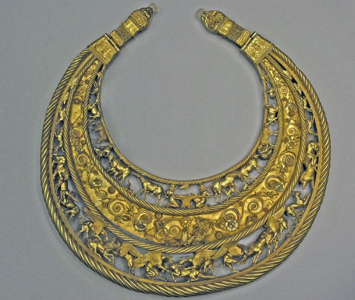 Image - A Scythian gold pectoral from the Tovsta Mohyla kurhan, 4th century BC (Museum of Historical Treasures of Ukraine).