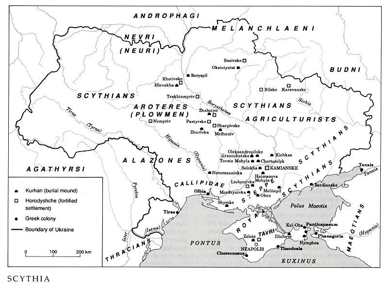 Image from entry Scythians in the Internet Encyclopedia of Ukraine