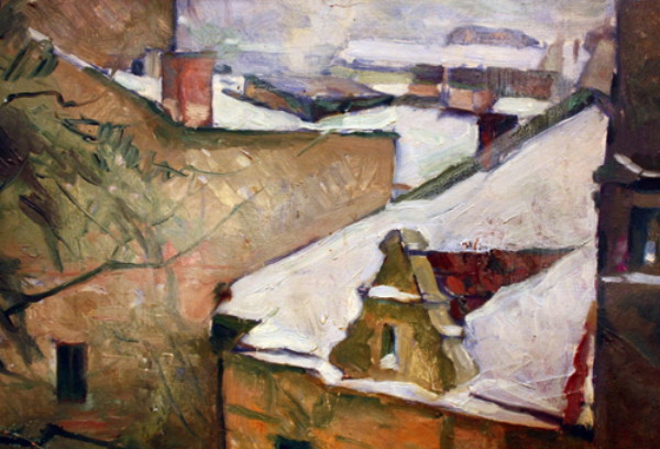 Image - Roman Selsky: Roofs under Snow.