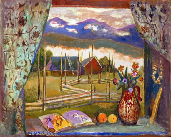 Image - Roman Selsky: View from a Window on the Chornohora.