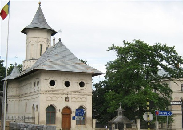Image - The Saint John's Church in Seret (Siret), south Bukovyna, Romania.