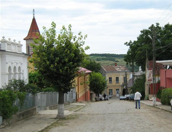 Image - A street in Seret (Siret), south Bukovyna, Romania.