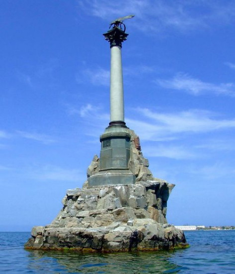 Image - Sevastopol: monument dedicated to sailors who perished during the siege of Sevastopol in the Crimean War (designed by Valentyn Feldman).