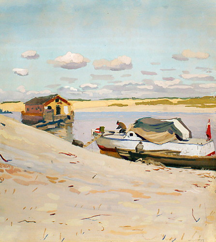 Image - Dmitrii (Dmytro) Shavykin: On the Shore (1952).