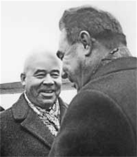 Image - Petro Shelest and Leonid Brezhnev