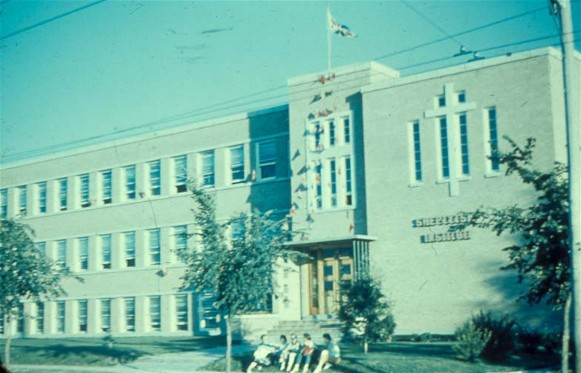 Image - The Sheptytsky Institute in Saskatoon (ca. 1960 photo).