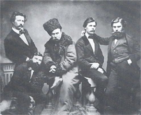 Image - Taras Shevchenko among friends (photo 1859)