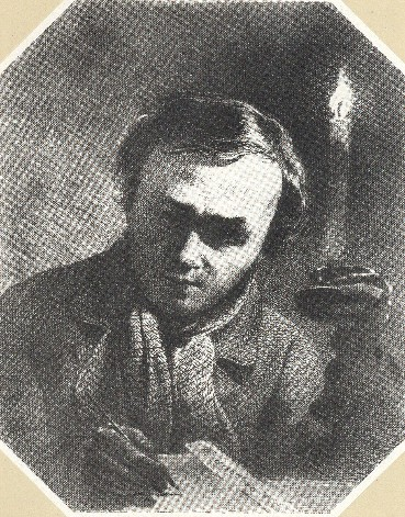 Image - Taras Shevchenko: Self-portrait with a Candle (1860)