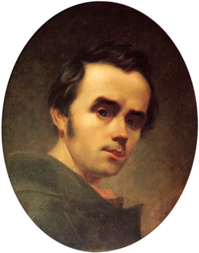Taras Shevchenko: Self-portrait (1840).