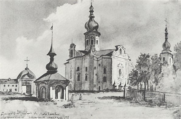 Image - Taras Shevchenko: The Ascension Cathedral in Pereiaslav (1845).