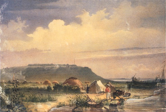Image - Taras Shevchenko: The Raim Fort seen from the Docks on the Syr-Darya (1848).