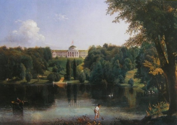 Image - Vasilii Shternberg: The Kachanivka Palace (1837).