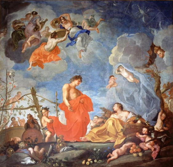 Image - Yurii Shymonovych-Semyhynovsky: Allegory of Autumn in the Wilan�w royal castle.